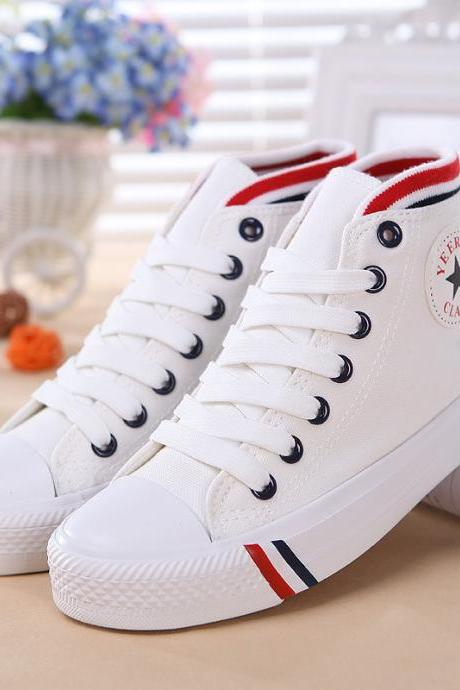 High-top lace-up canvas shoes CA922BD