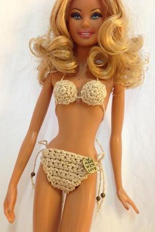 Golden Barbie Doll Bikini Swimwear