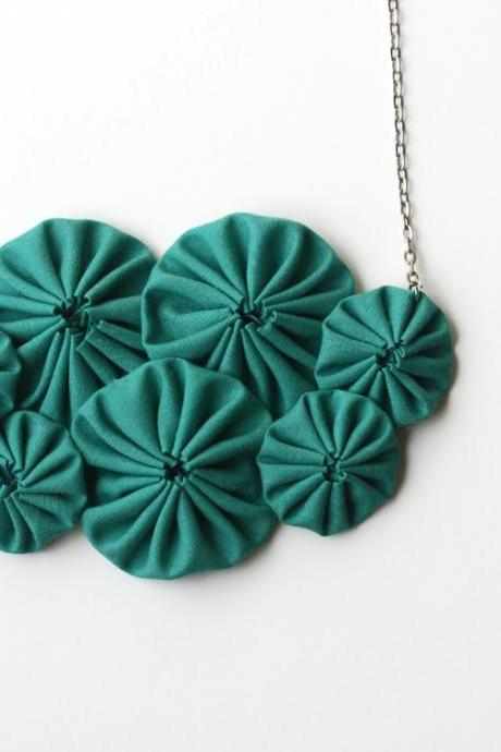 Emerald green bib necklace
