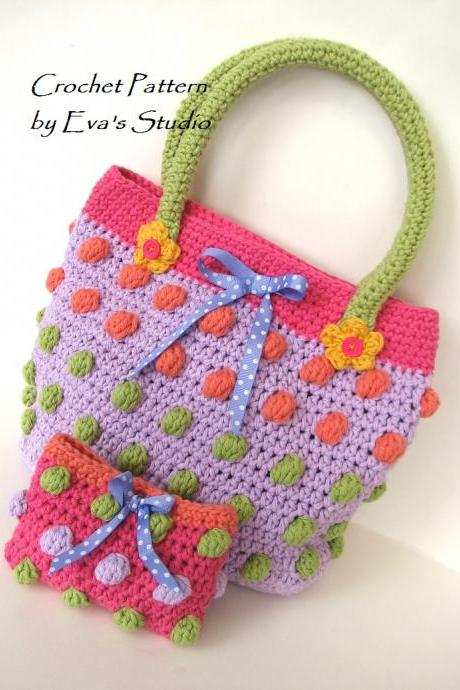 Girls Bag / Purse/ Wallet, Crochet Pattern PDF,Easy, Pattern No. 72