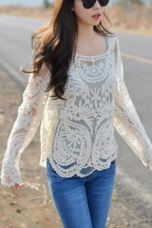 Long Sleeve Lace embroidery #092407AD