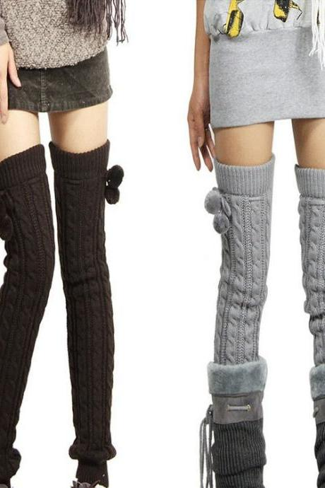 Long Cabled Legging Legwarmer