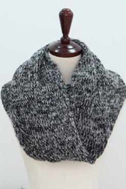 Cheap Korean Style Two-tone Grey Woolen Scarf