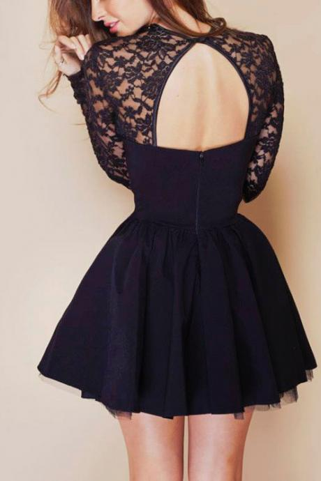 Stitching lace dress