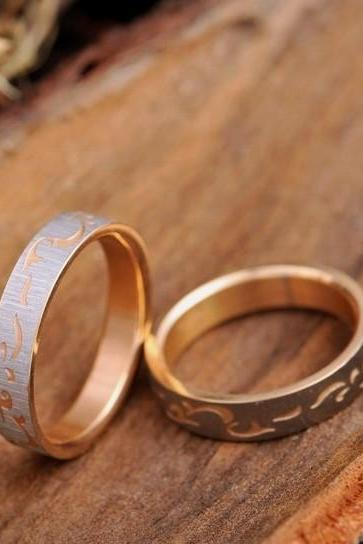 2 Rings-Free Engraving rings, Wedding Bands Couple Rings, Lovers rings, his and hers promise ring sets, wedding rings, matching couple ring