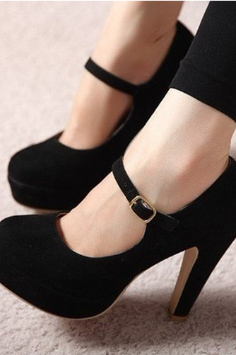 New Style Lady Women Fashion Strap High Heels Platform Pumps Steedy Shoes
