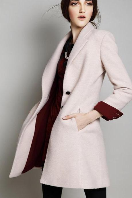 women coat apricot coat jacket