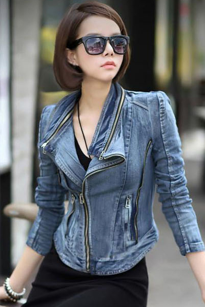 Vintage Mandarin Collar Long Sleeves Short Jacket