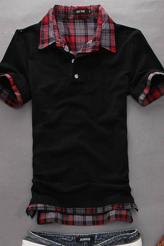 Fashion Short-sleeve T-shirt 2013 male trend clothes summer short-sleeve t-shirt faux men's clothing