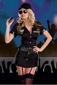 Halloween games to serve in the officers / police uniform temptation Halloween clothing wholesale
