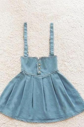 High Waist Retro Fashion Denim Skirt Tutu AX092804ax