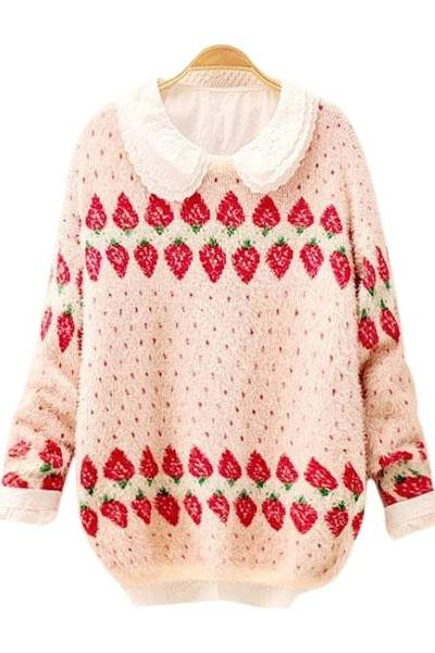 Strawberry Patterns Sweater