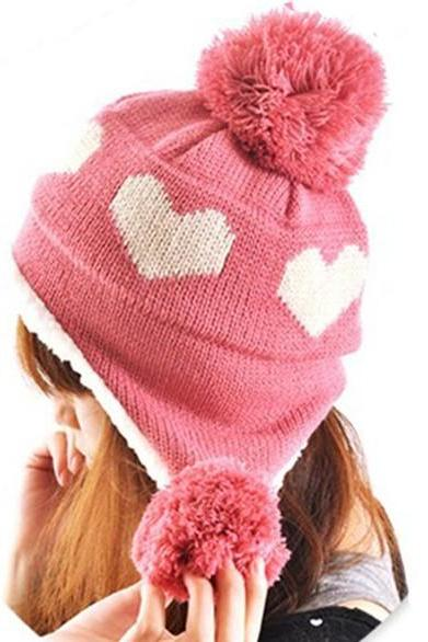 Hearts Knitting Winter Hat
