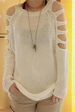 Strapless Pullover Long Sweater