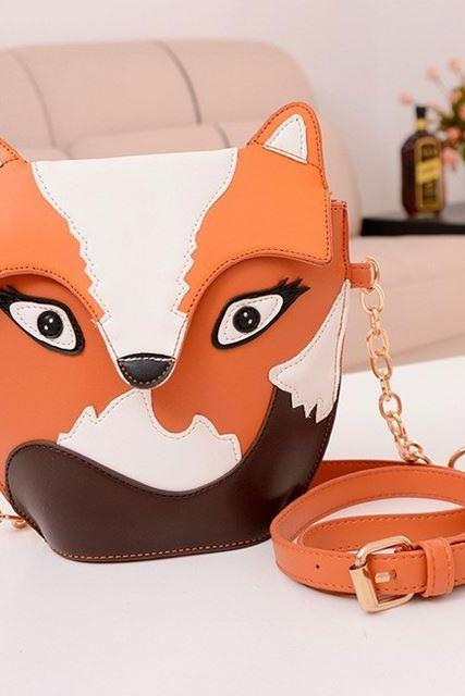 Ready To Ship Fox Purse Bag Messenger Tote Purse Shoulder Bag For Women-Fox Fashion Bag