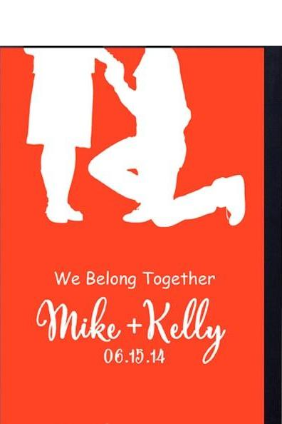 gift for Husband -Engagement, Anniversary or Wedding Gift idea- We Belong together print
