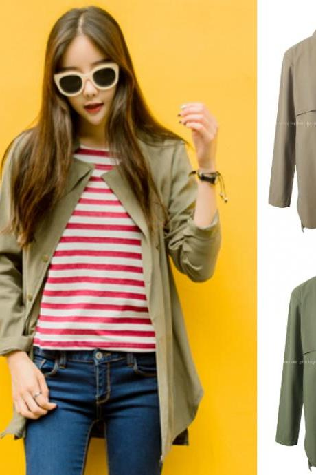 Cardigan Jacket Outerwear Outer Beige Green Khaki Autumn Fall Jumper Stylish Office Casual Women Natural Fit Boxy