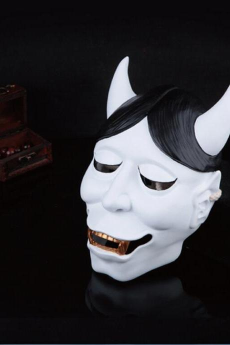 Collector's edition movie theme high-quality resin X SS white butterfly Ghost Academy white servants kitsune mask 710g