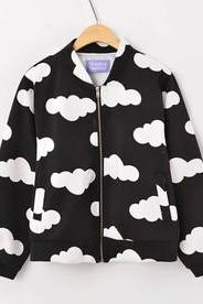 New Spring Autum Fall 2014 Harajuku Clouds Jacket Bomber