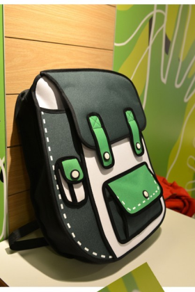 The Most Cute Black Color 3D Cartoon Backpack
