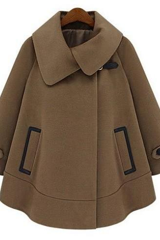 Cape Coats Jackets Women's Winter Coat High Fashion S L XL