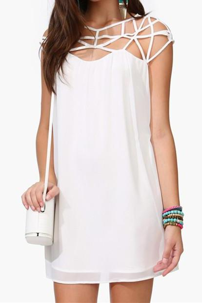 Dress With Strapping Shoulder