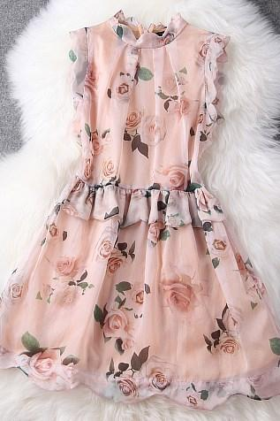 Rose Pattern Dress