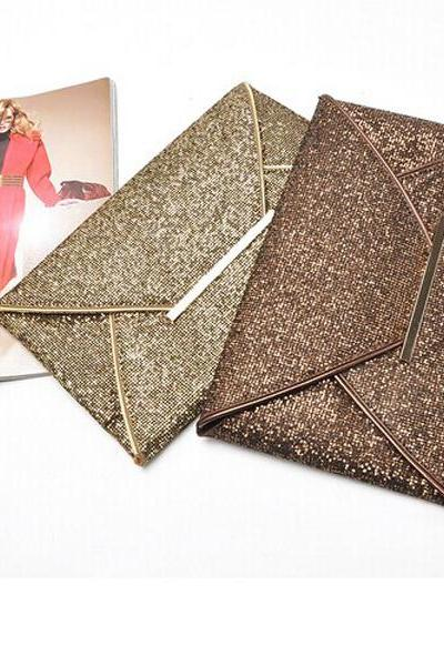 High Quality Modern atmosphere sequins envelope bag Evening Party Purse Clutch