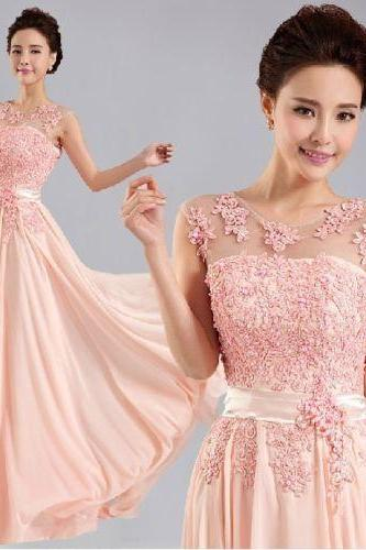 New Chiffon Lace Evening Formal Party Ball Gown Prom Bridesmaid Long Dress
