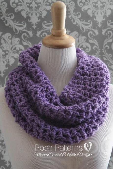 Crochet Pattern - Crochet Cowl Pattern - Easy Beginner Cowl Crochet Pattern - Adult Ladies Teen Girls - PDF 346