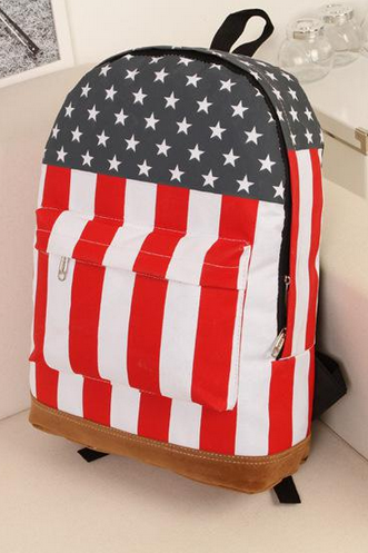 New Arrival Canvas Shoulder Bag British / American Flag Punk Bag Backpack Schoolbag Day Packs
