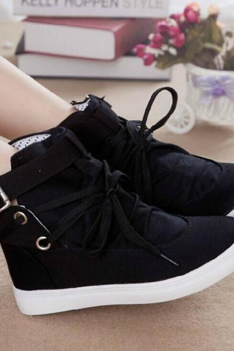 Lace High-Top Canvas Shoes