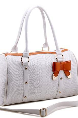 Adorable Bowknot & Rivet Pu Satchel Bags