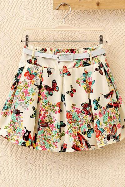 Printed Chiffon Skirt New Fashion Skirts