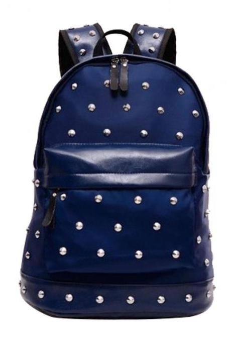Large Size Spiked Rivets School Computer Shoulder Bag Backpack