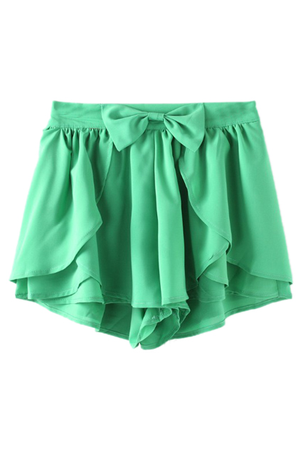 Flouncing Bow Culottes Shorts