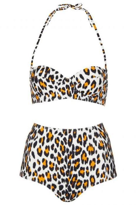 Leopard High-waisted Bikini HT625EH