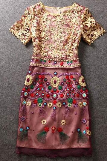 Embroidery Stitching Dresses