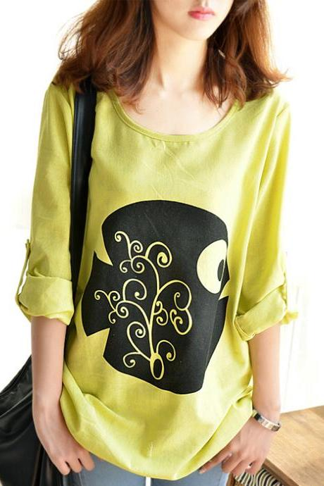 Loose Cotton Shirt T Shirt
