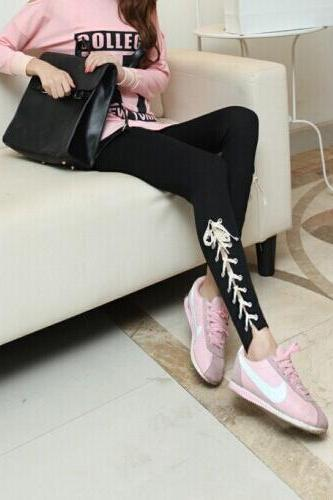 The new station in Europe fall significantly thin cotton super beauty feet mouth lace straps Leggings