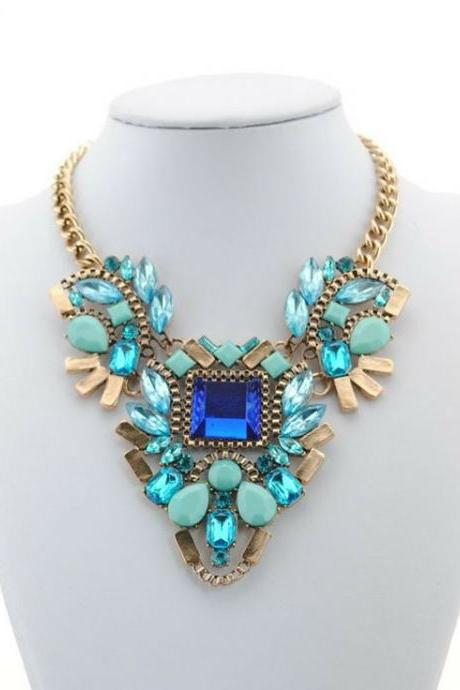 High quality evening statement woman necklace