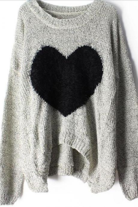 Heart Mohair Sweater