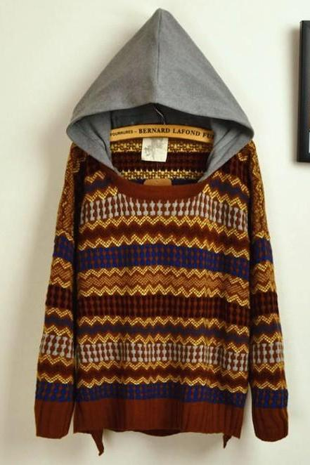 Embroidered Big Yards Sweater