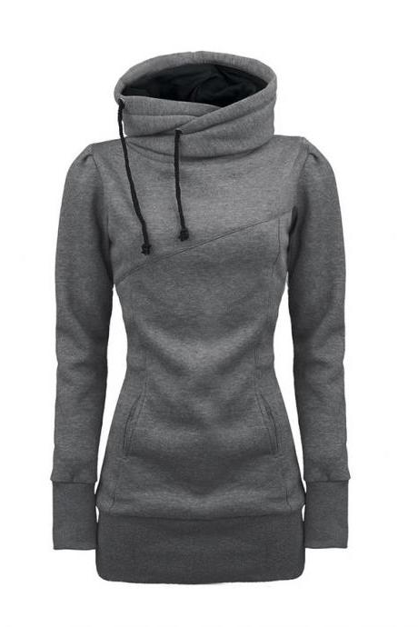 Draw String Beam Waist Korean Style Cotton Women Hoodies