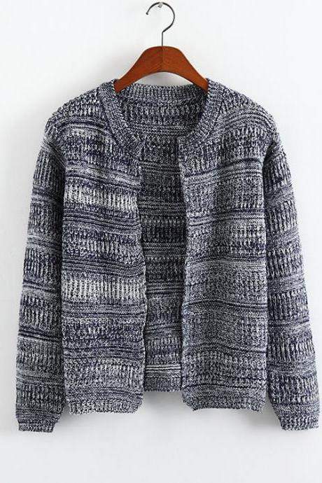 Cardigan Sweater In Gray