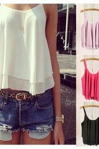 Casual Spaghetti Strap Top