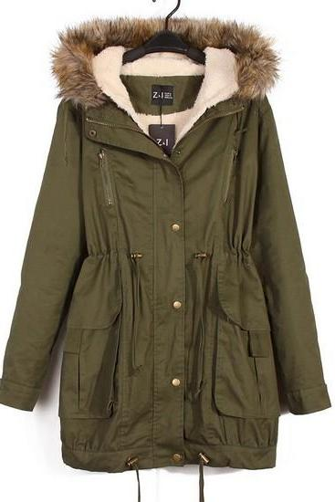 Warm Winter Coats For Women In Green
