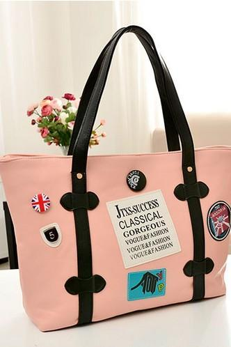 Cute Color Block Union Jack Design Bag