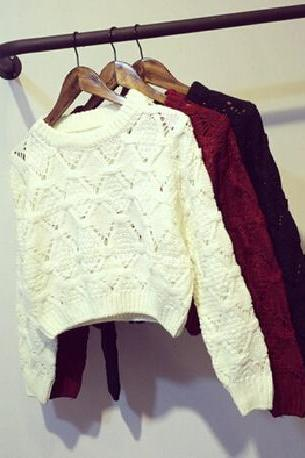 Long-sleeved knit sweater DF100824HJ