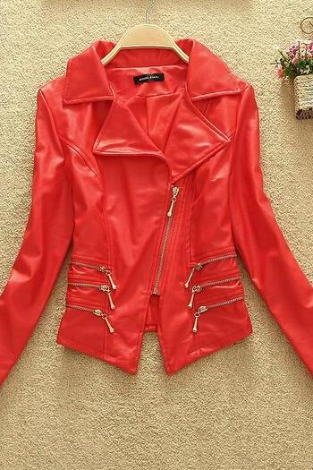 Slim Pu Leather Jacket